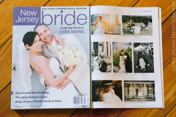 "Laura Bruen featured in NJ Bride Magazine - ""Editor's Favorites""  Spring 2012"