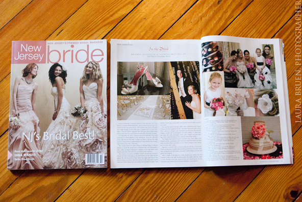 Laura Bruen featured in NJ Bride Magazine featuring Dina Manzo - Winter, 2011