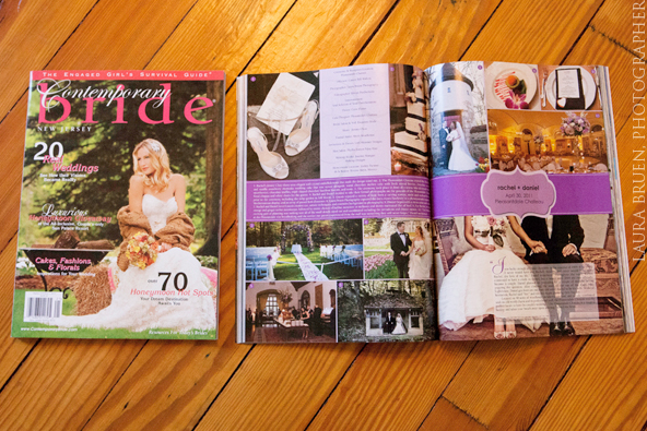 Laura Bruen Featured in Contemporary Bride - Pleasantdale Chateau - NYC / NJ Creative Photographer