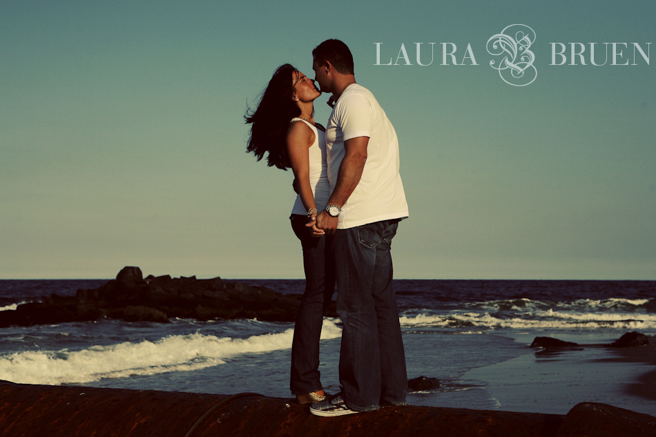 Long Branch NJ - Engagement Portraits - Laura Bruen, Photographer