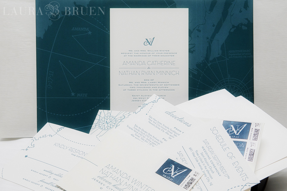 Nautical Wedding Invitation - Laura Bruen, Photographer