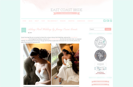 East Coast Bride featuring Laura Bruen, Photographer