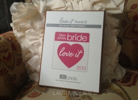 """Best in Bridal"" Love it Award from NJ Bride!"